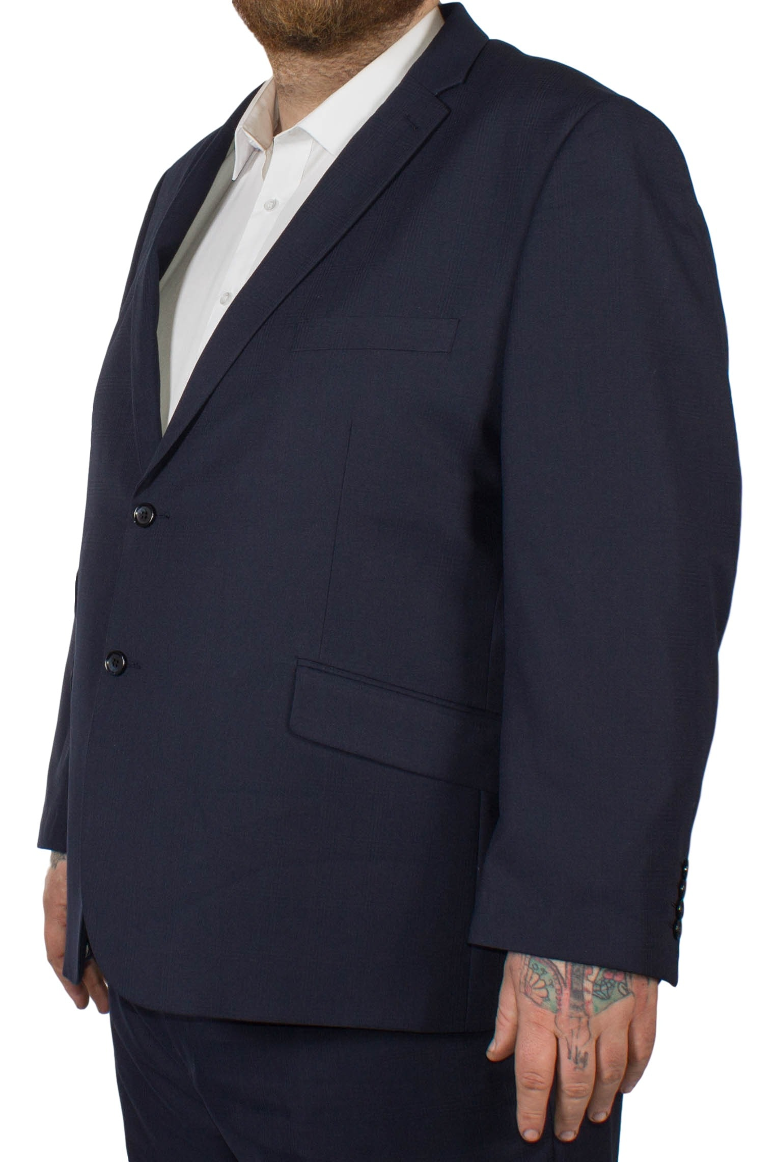McCarthy Dante Check Jacket Navy
