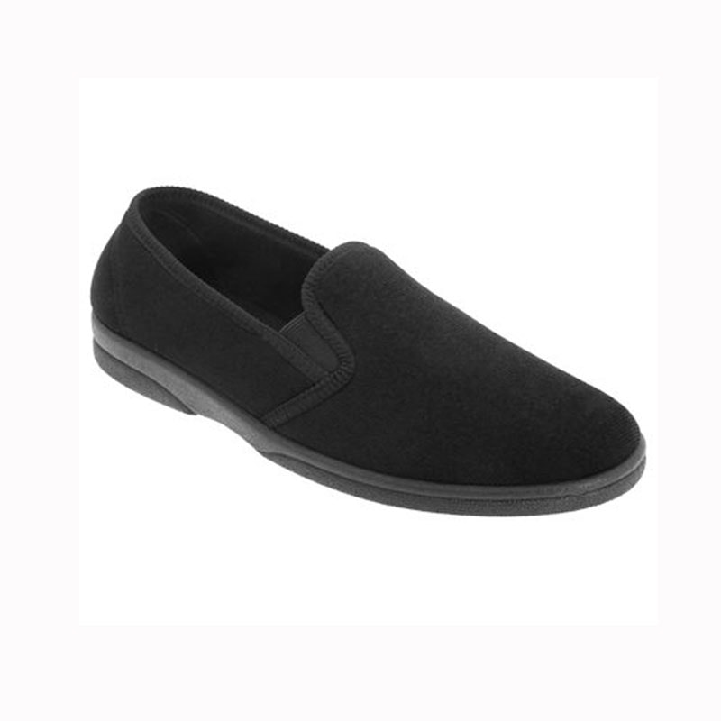 Sleepers Anthony IV Black Twin Gusset Slipper