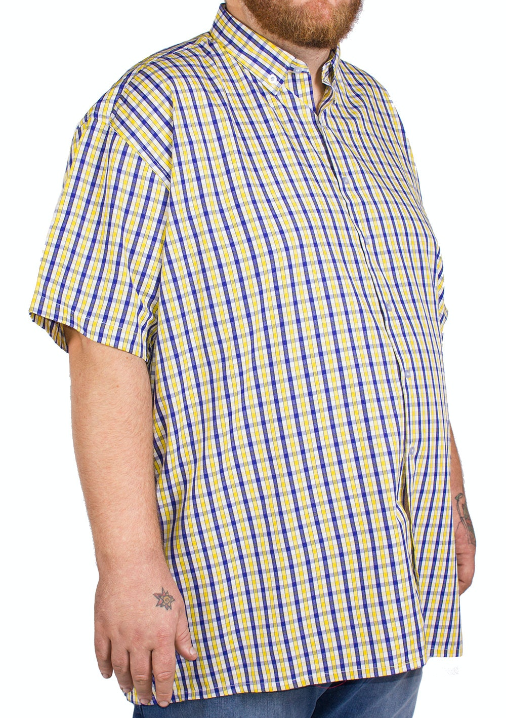 Fitzgerald Yellow Short Sleeve Check Shirt