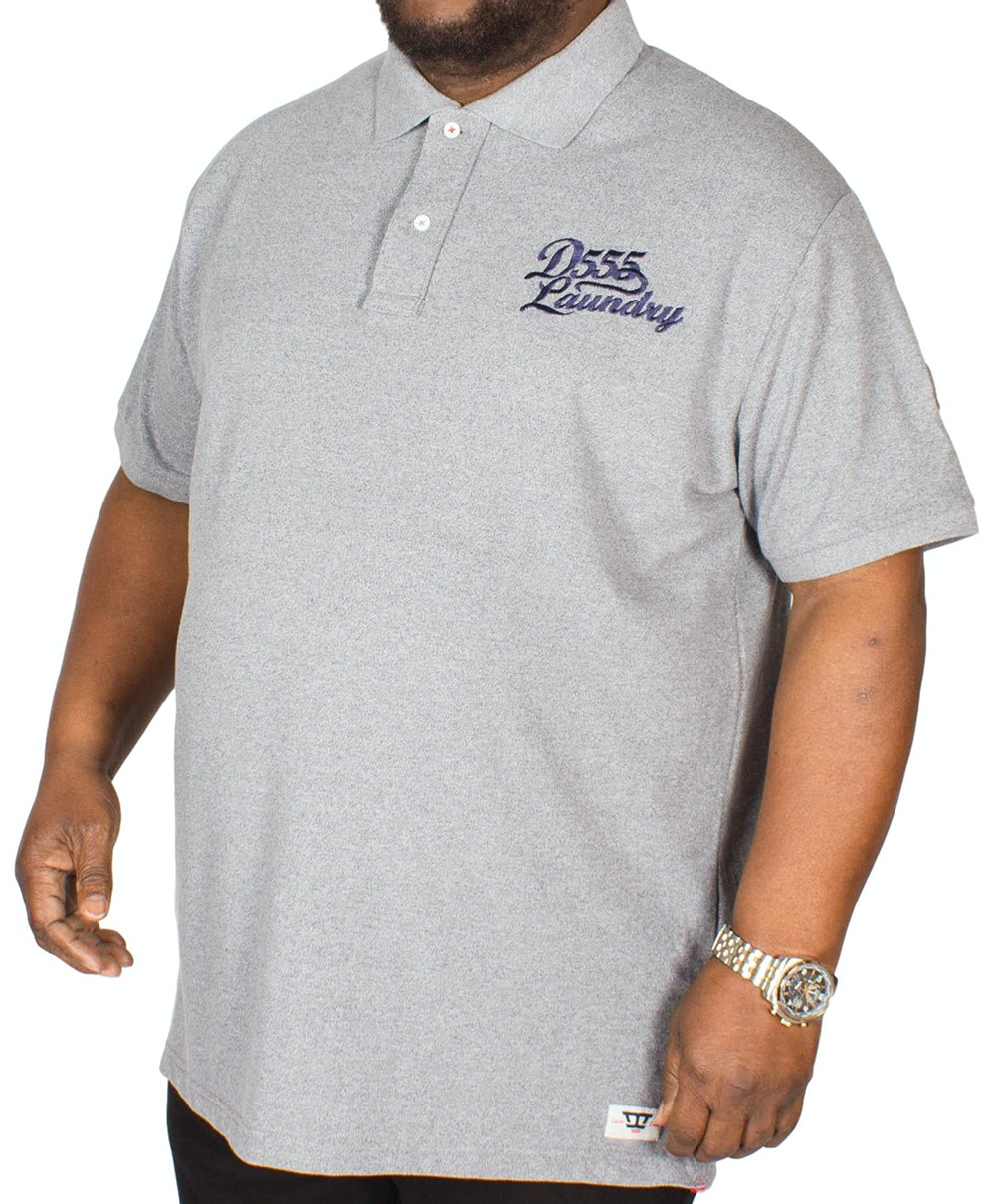 D555 Graham Embroidered Polo Shirt Grey