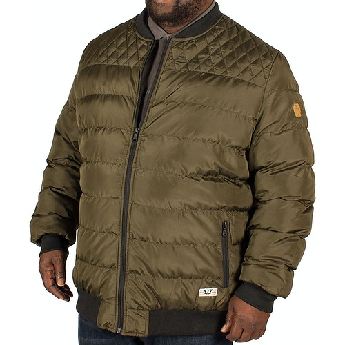 D555 Turner Quilted Bomber Jacket Khaki