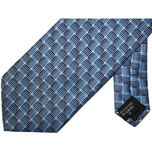 Knightsbridge Extra Long Squares Tie Blue / Navy