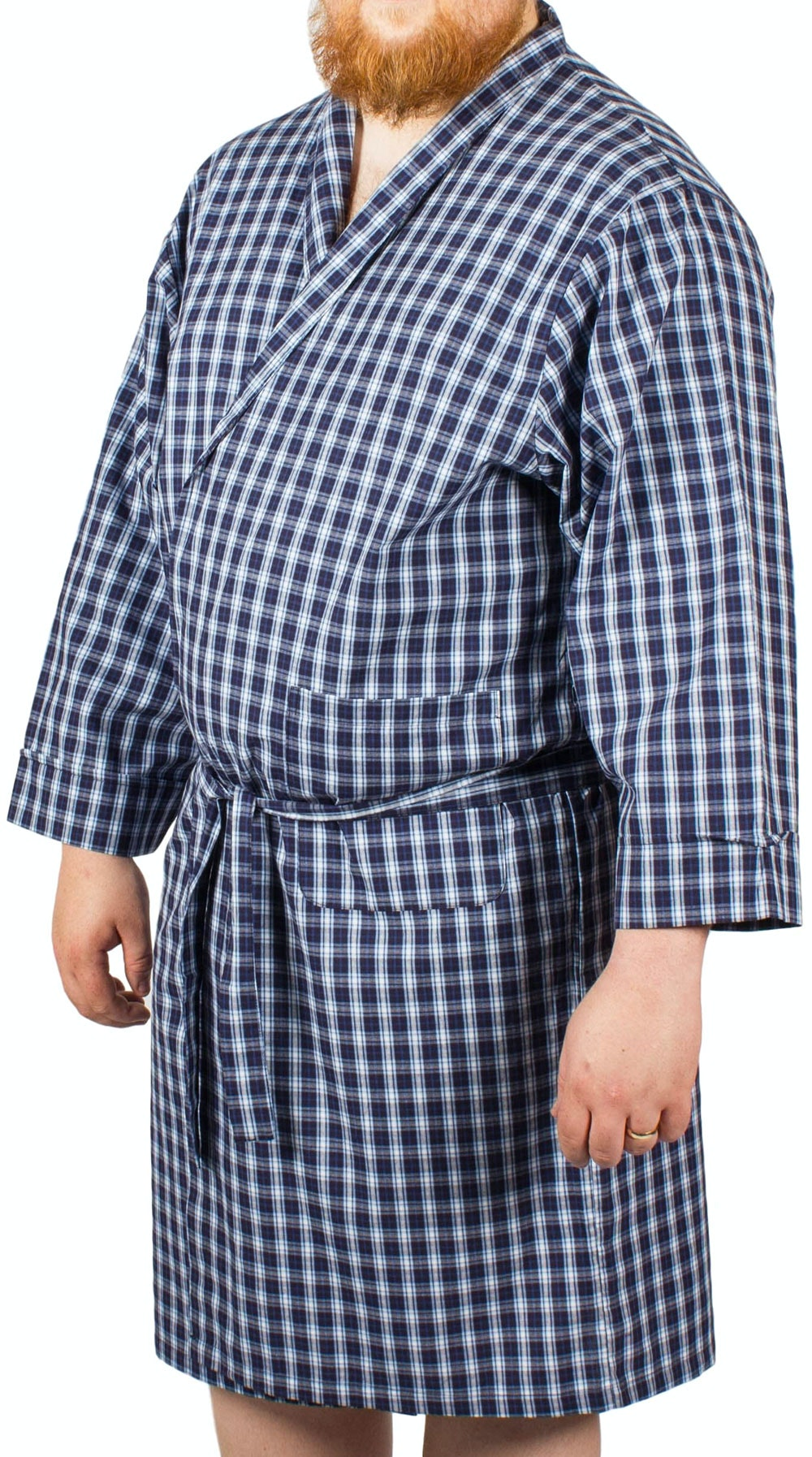 Rael Brook Dressing Gown Blue/White Check