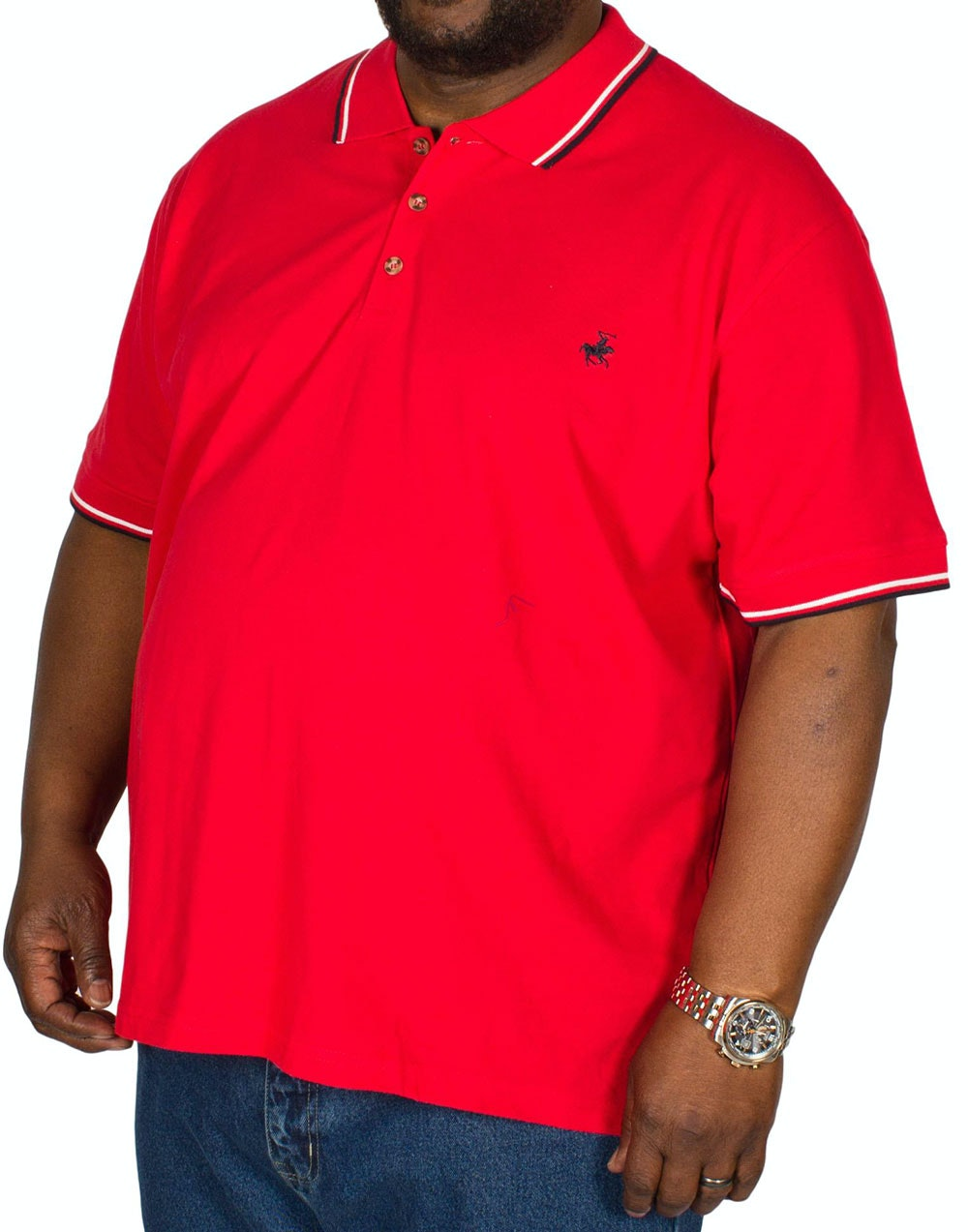 Pierre Roche Tipped Polo Shirt Red
