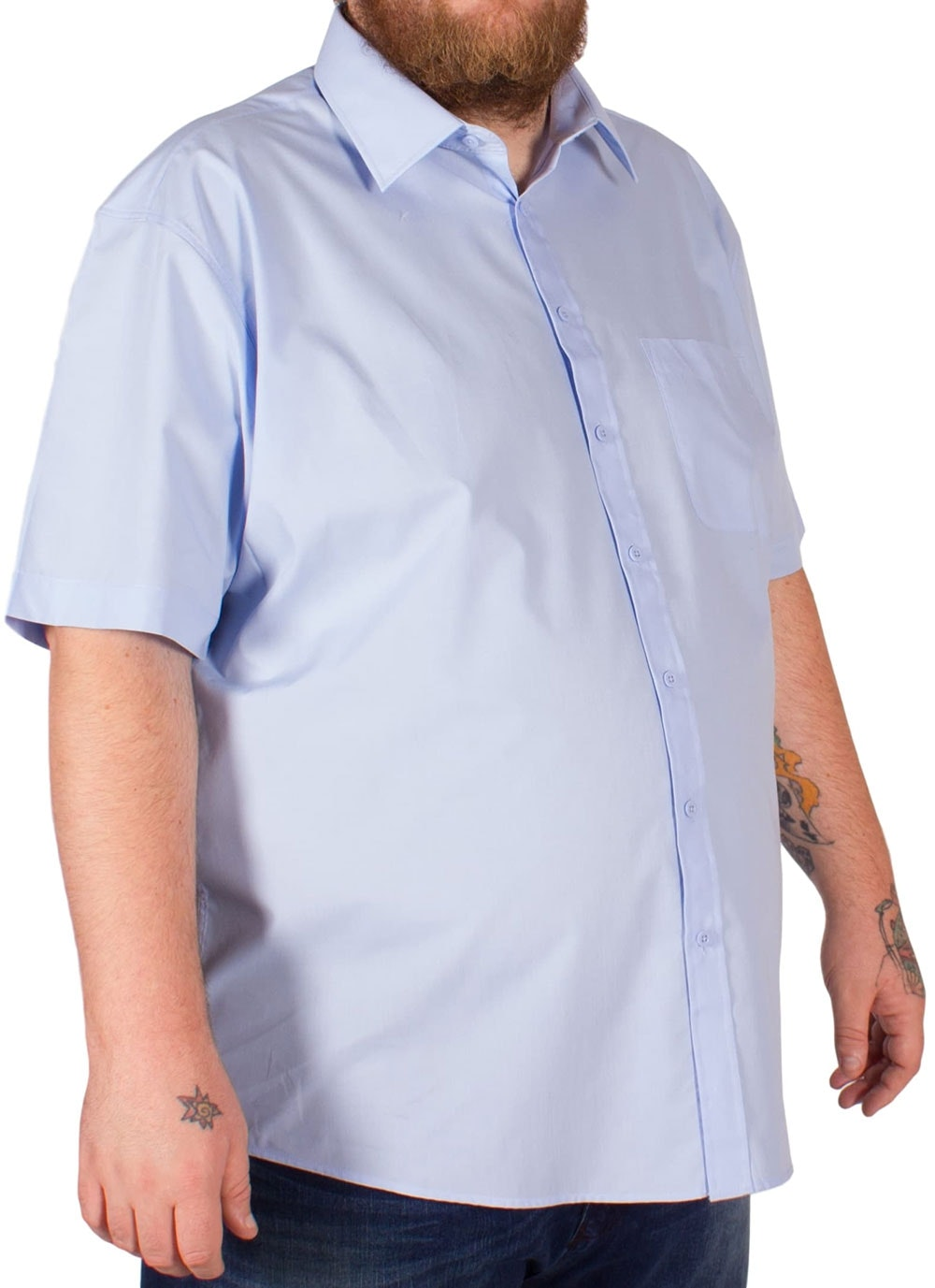 Blue Classic Short Sleeved Shirt