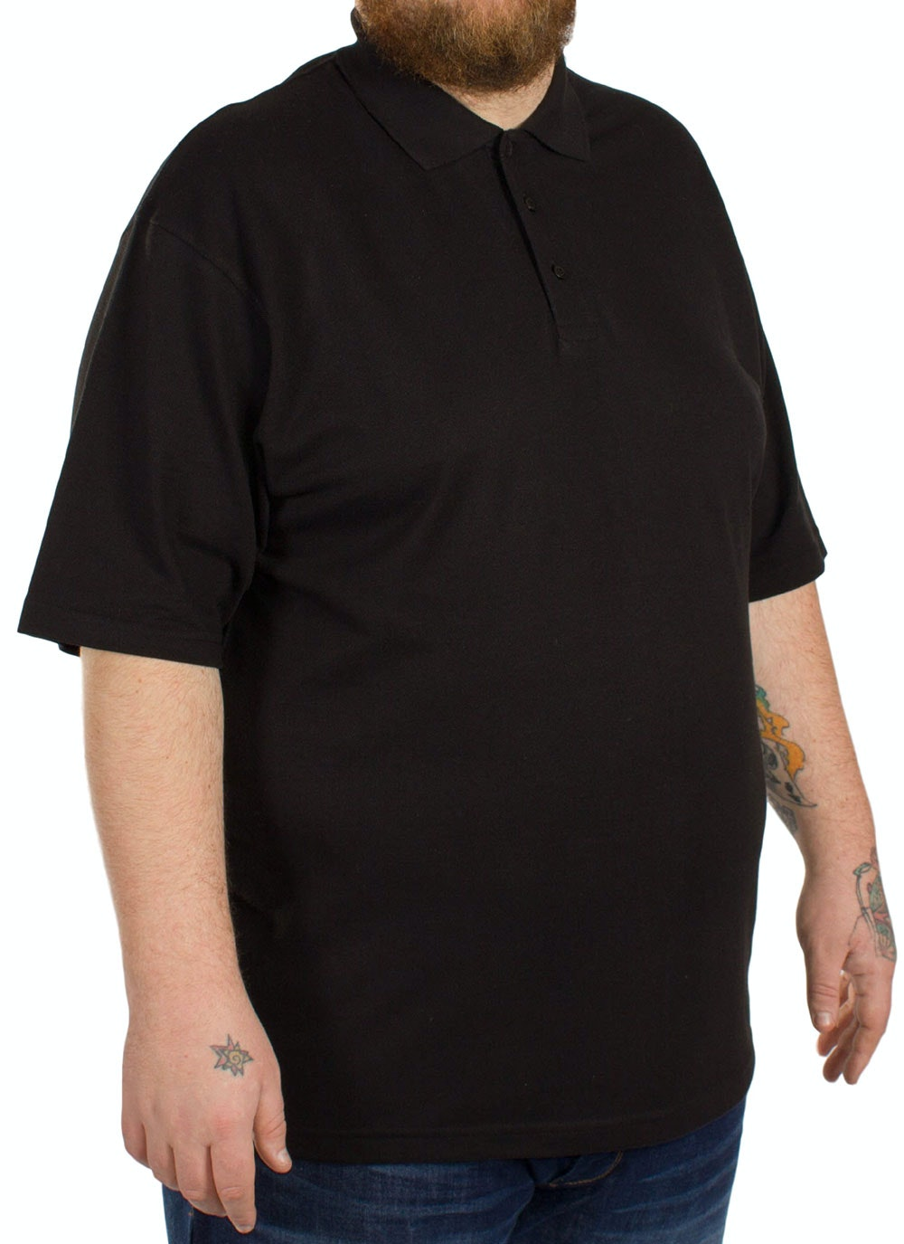 Bigdude Plain Polo Shirt - Black